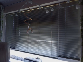Blinds down & closed to keep out the sun