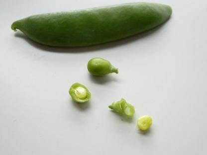 Peeled sugar snap pea